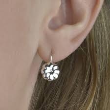earrings everyday sterling silver everyday flower earrings by tales from the earth