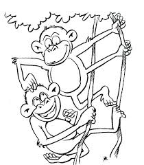 printable coloring pages monkeys coloring book monkey plus monkey with banana free printable coloring