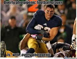 Football Player Meme - overly photogenic football player by cody71 meme center