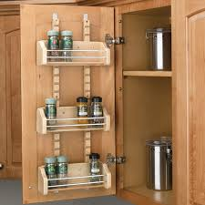 Over The Cabinet Spice Rack Pantry Door Shelves Wood