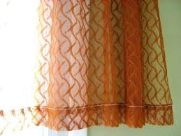 Rust Color Curtains Rust Curtains Sheer Curtain Burnt Orange Rust Color One Panel Of