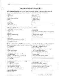 dbt distress tolerance activities worksheet a complicated person