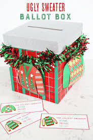 ugly sweater ballot box