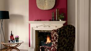 red livingroom statement wall dulux redcurrant glory and natural hessian