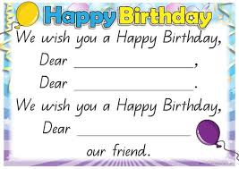 printable happy birthday song or rhyme