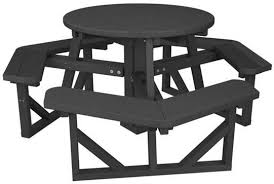 round plastic picnic table 36 round recycled plastic picnic table a picnic table store