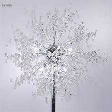 Living Room Light Stand Crystal Living Room Stand Floor Lamp Modern Flower Firework Floor