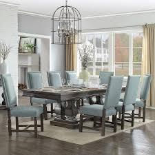dining room sets with fabric chairs parador 9 piece dining set fabric