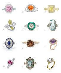 coloured engagement rings images Coloured engagement rings meandyoulookbook jpg