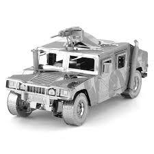 armored humvee metal earth diy 3d metal model kits metal earth iconx humvee