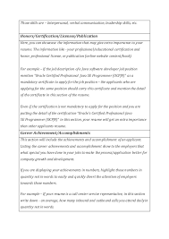 Certification Letter Of Accomplishment Combination Resume Templates U0026 Cover Letter