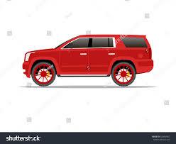 pontiac aztek red vector image red big suv car stock vector 350404502 shutterstock
