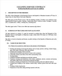sample cleaning contract agreement 6 examples in word pdf
