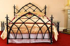 gothic metal bed frame grace wrought iron beds headboards metal