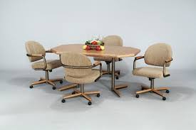 Terrific Swivel Dining Room Chairs With Casters  With Additional - Dining room chairs with rollers