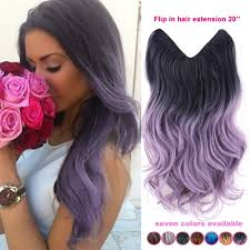 Purple Remy Hair Extensions by Black And Purple Ombre Hair Extension Natural Waves Ombre Hair