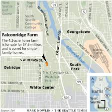 Map Of Seattle Center by Horse Farm Tucked Into Corner Of Seattle May Be Destined For