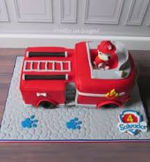 paw patrol cake fire truck cake www facebook com cathysconfection