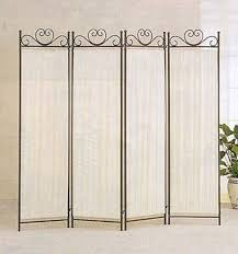 Fabric Room Divider Legacy Decor 4 Panel Room Screen Divider Ivory Linen
