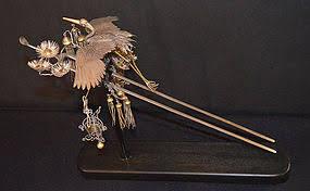 japanese hair pin japanese edo period silver and gilt hair pin ancient