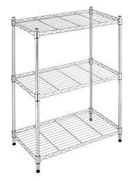 amazon com whitmor supreme small 3 tier shelving adjustable