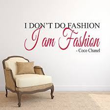 stickers muraux citations chambre coco chanel i am fashion sticker mural citation chambre de