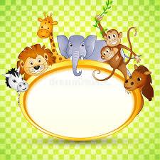 tier in der babyparty einladung stockbild bild 30548631