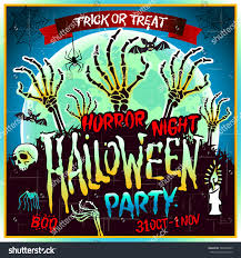 coupon for halloween horror nights halloween zombie party poster illustration horror stock