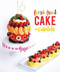 25 fruit birthday cake ideas fruit kebabs