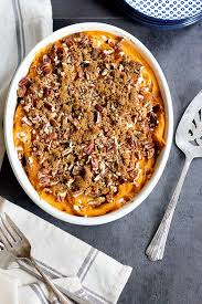 sweet potato casserole with pecans unicorns in the kitchen