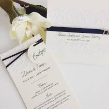 wedding invitations queensland paper invites matching individual menus with name tag