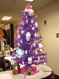 purple and silver tree decorating ideas