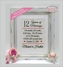 12 year anniversary gift for him 12 years together linen anniversary print 12th anniversary