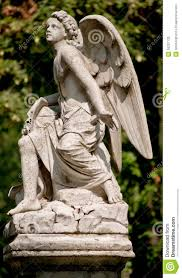 Angel Sculptures Guardian Angel Statue In A Cemetery Outdoor Stock Photos Image