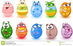 cartoon easter eggs happy easter vector royalty free stock photos