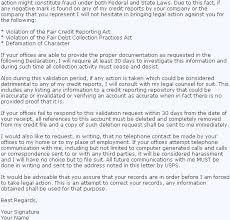 credit magic debt validation letter sample letter to dispute