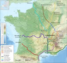 South Of France Map by Via Domitia Wikipedia