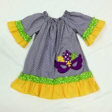 mardi gras baby clothes girl s mardi gras appliqued dress