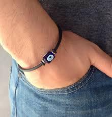 evil bracelet images Greek evil eye bracelet rubber stainless steel protection jpg