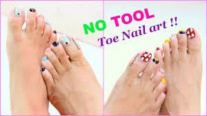hindi tutorial 2 toe nail art without using tools youtube