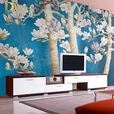 aliexpress com buy modern 3d stereo tree photo wallpaper living