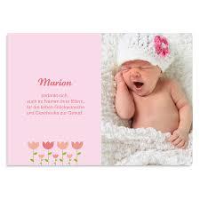 sprüche zur geburt eines mädchens dankeskarten geburt mädchen tulpen carteland de
