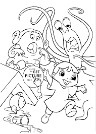 monster inc coloring pages for kids printable free coloing