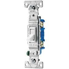 shop eaton 15 amp single pole white toggle indoor light switch at