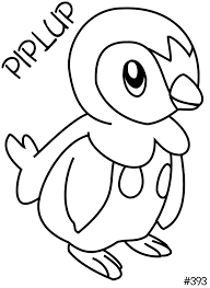 piplup pokemon coloring printables images pokemon images