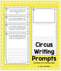 circus themed writing reading math and craft activities boy
