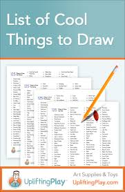 list of things to draw for kids fun things to draw summer