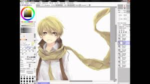 anime manga boy u0027flavus u0027 drawing with paint tool sai youtube