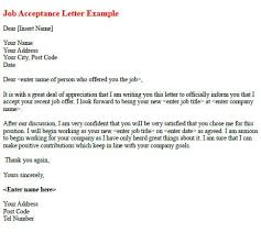 brilliant ideas of sample acceptance of job offer thank you letter