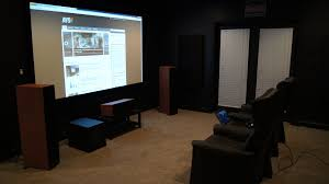 home theater basement need some help with my open concept basement theater avs forum